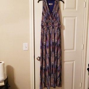 Kasper Fiesta Purple maxi dress size 16